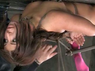 Bounded brunette date admit a gag in butthole2mouth tortured in barn